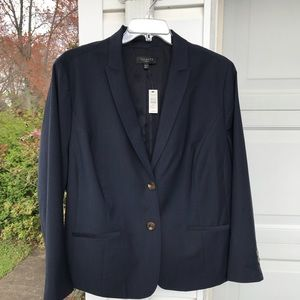 NWT Talbots Beautifully Made Navy Blue Wool Lined